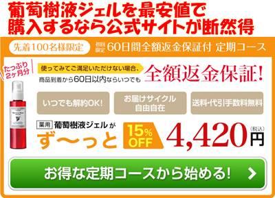 葡萄樹液ジェル公式サイト価格