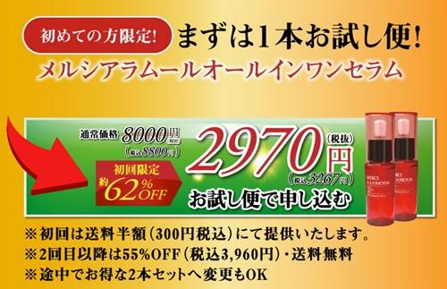 メルシアラムール公式サイト価格